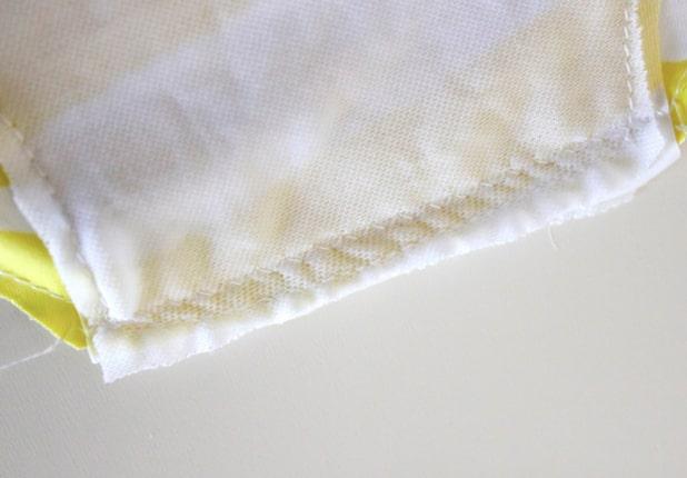 unión de telas de entre pierna para traje de baño