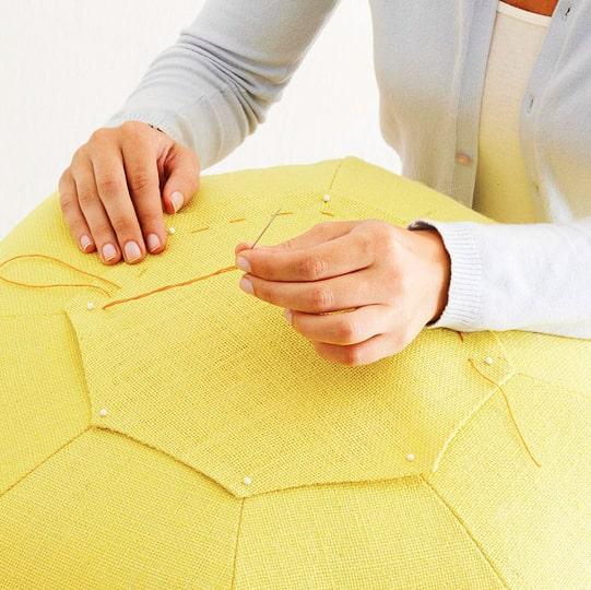 costura de la octogonal para puff