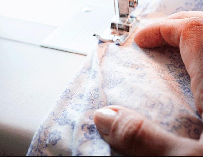 costura final de tela para funda de edredón