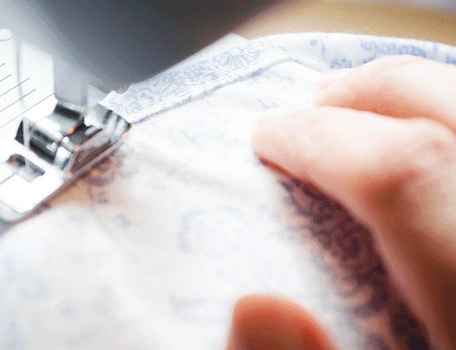 costura de unión de telas para funda de edredón