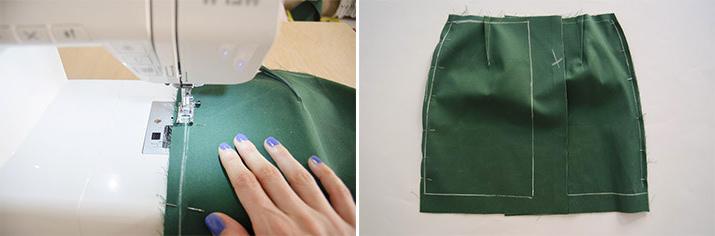 enfrentamiento de derechos de tela para falda