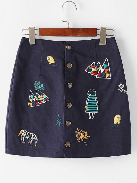 falda de tela extratip