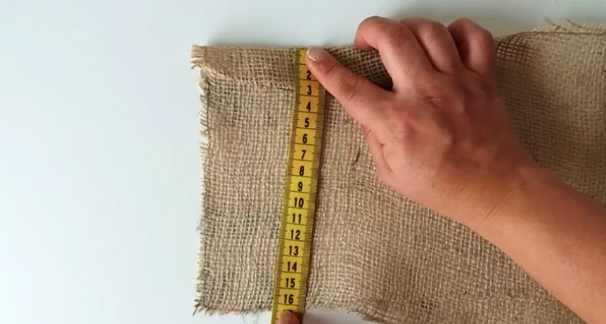 medida del dobladillo para funda de maceta