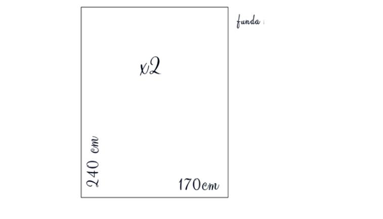patrón para funda de tela de edredón