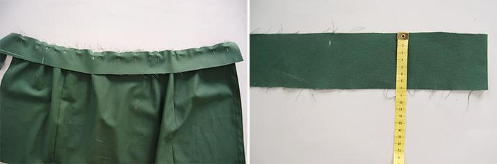 realizacion de cintura para falda de tela