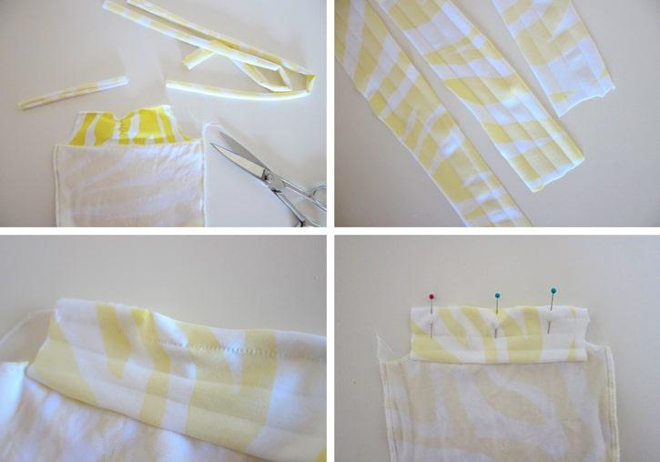 realizacion de terminaciones para traje de baño de tela