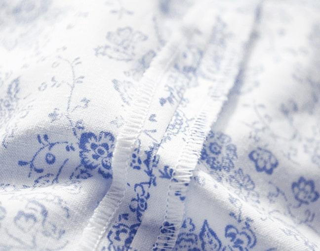 terminación de costura de unión de telas para funda de edredón