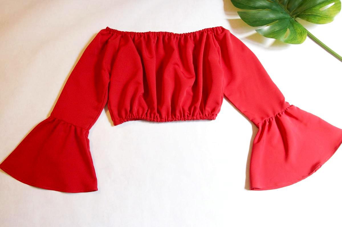 blusa de tela con elastico terminada