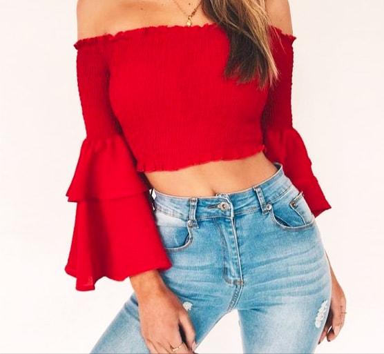Cómo hacer una blusa sin hombros.