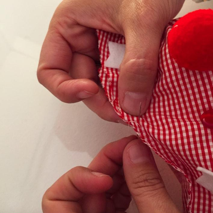 cierre de triangulos de tela para arbol