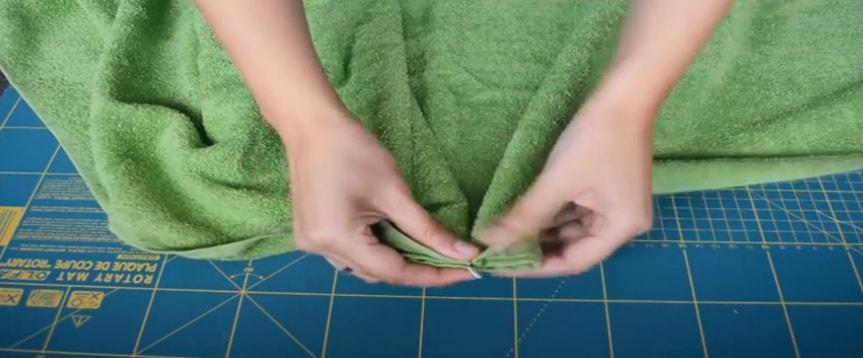 dobles sobre tela de toalla