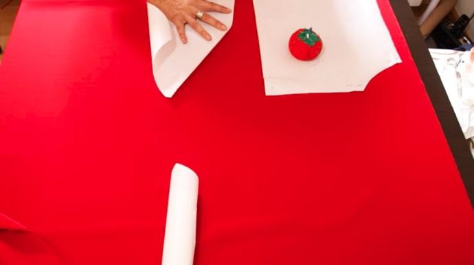 marcado de patrones para blusa de tela