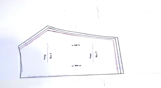 unión de patrones para blusa de tela1
