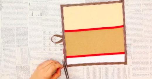 decoración de cinta para porta pasaporte de tela
