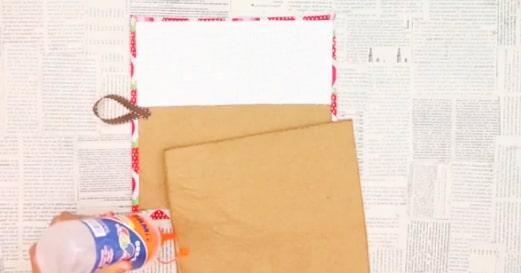 pegado de sobres internos para porta pasaporte de tela