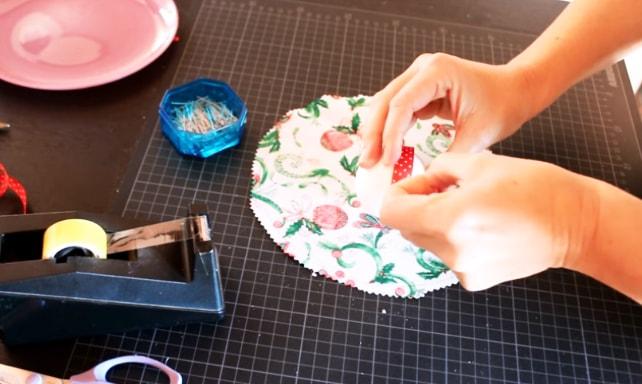 pinche de cinta decorativa para adorno navideño de tela