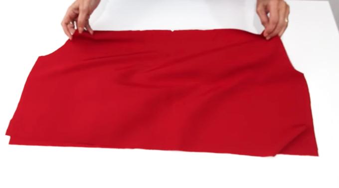 unión de tela delantera con tela de la espalda