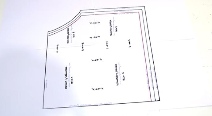 unión de patrones para blusa de tela2