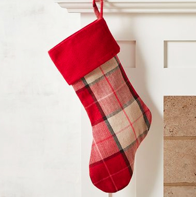 Cómo hacer una bota navideña de tela.