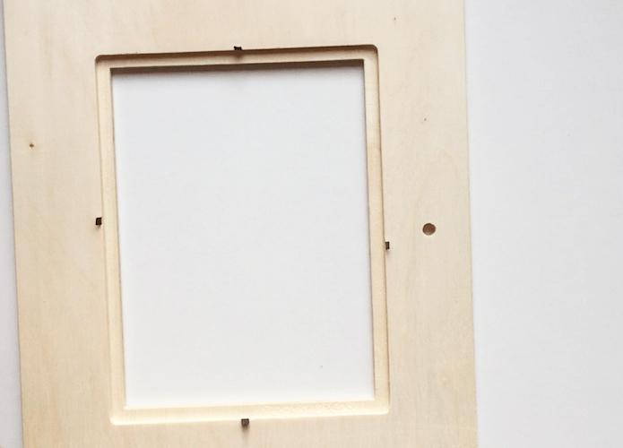 desarmado de marco para porta retrato de tela