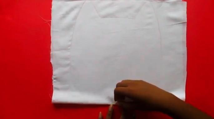 dibujo de patrón para almohadón de gato de tela