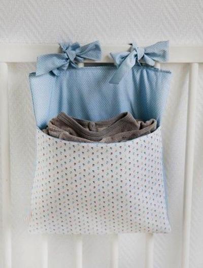 Cómo hacer una bolsita de tela para cuna de bebé.