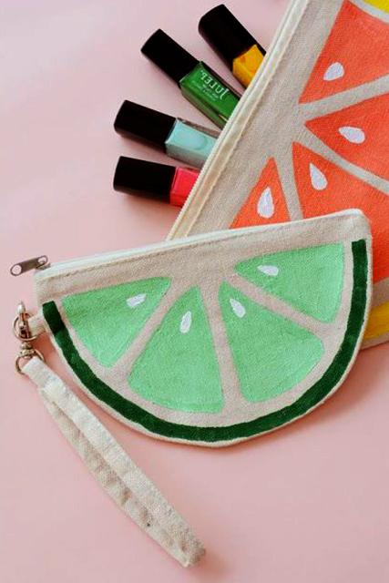 cartuchera de tela en forma de sandia extratip