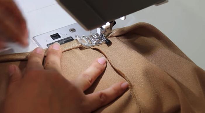 costura de dobladillo para blusa lencera de tela