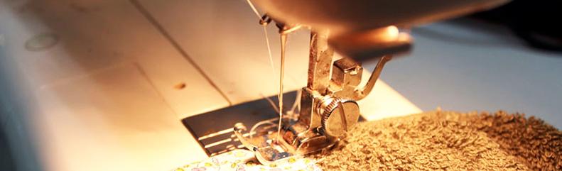 costura de dobladillo para repasador decorado