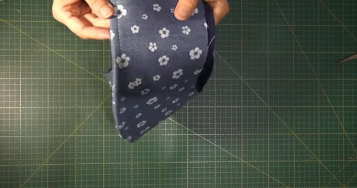 costura de tela para la parte inferior de sombrero