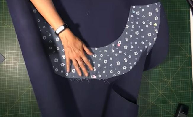 preparación de goma eva para sombrero de tela
