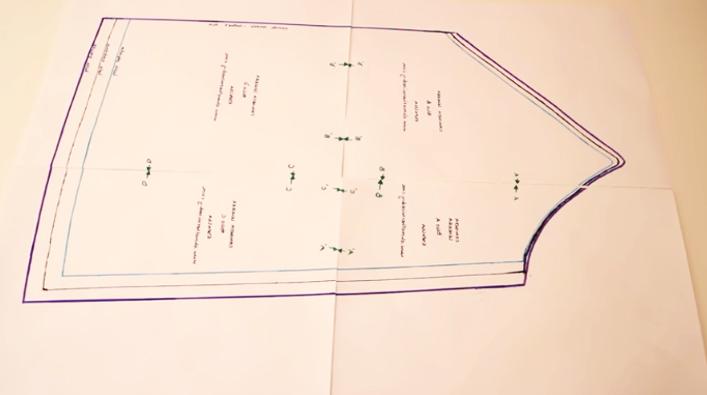 unión de patrones para blusa lencera de tela