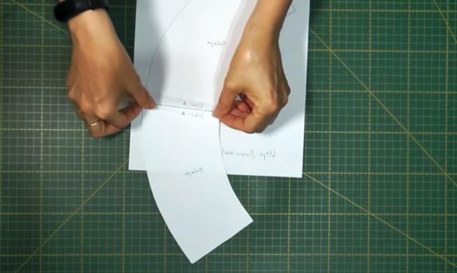 unión de patrones para sombrero de tela