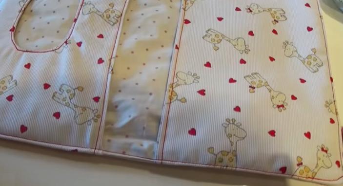 bolsa de tela porta toallitas y pañales de bebé