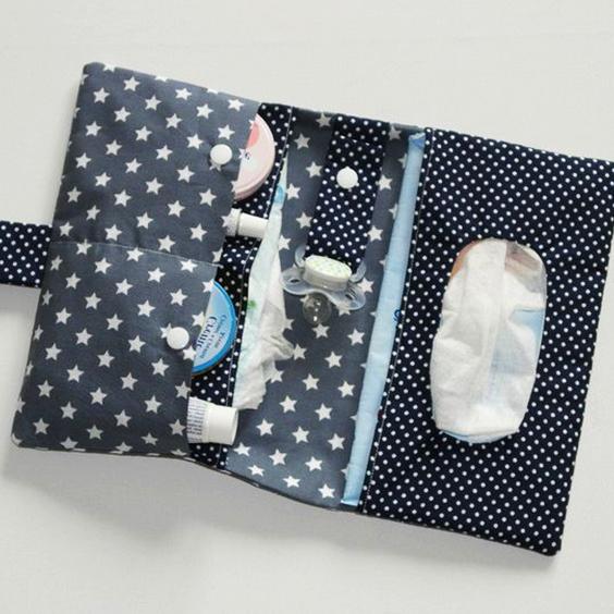 Cómo realizar una bolsa de tela para pañales y toallitas