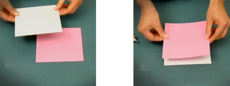 corte de cartón y tela para tateti