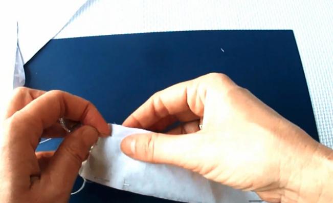 costura de tela para forro de percha decorada
