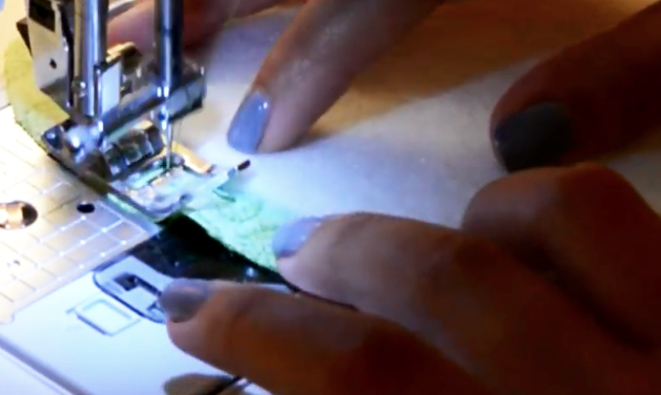 costura de telas para apoya vasos
