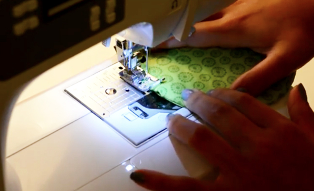costura final de tela para apoya vasos