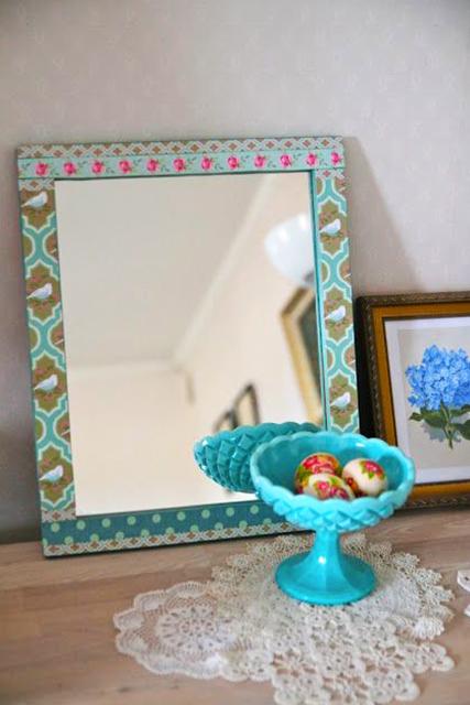 Cómo realizar un marco de tela para un espejo.