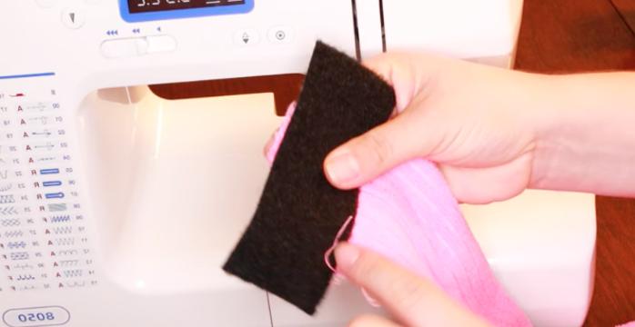 ubicación de primer velcro en las puntas para vincha de tela para maquillaje