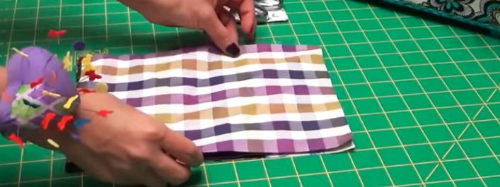 costura de marcas en tela para porta cubiertos