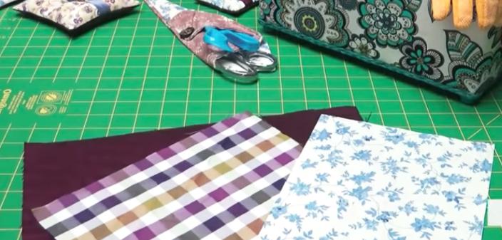 corte de tela para porta cubiertos