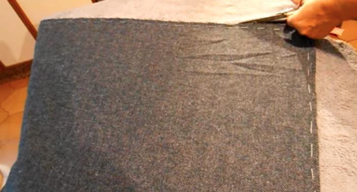 corte de tela sobrante para pie de cama