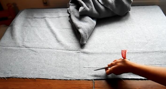 cortes de tela para pie de cama
