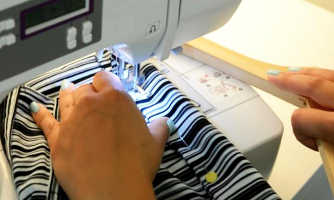 costura final para organizador de zapatos de tela