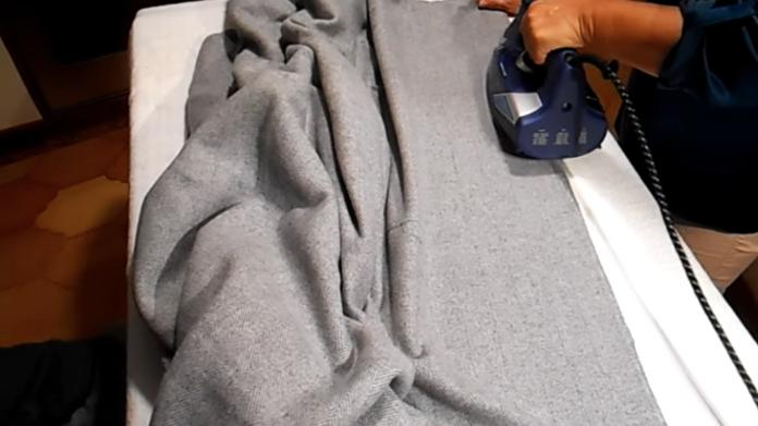 planchado de tela para pie de cama