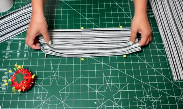 preparado de rectángulos restantes para organizador de zapatos de tela