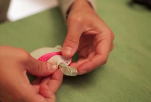 unión de enganche a huevo de pascua de tela