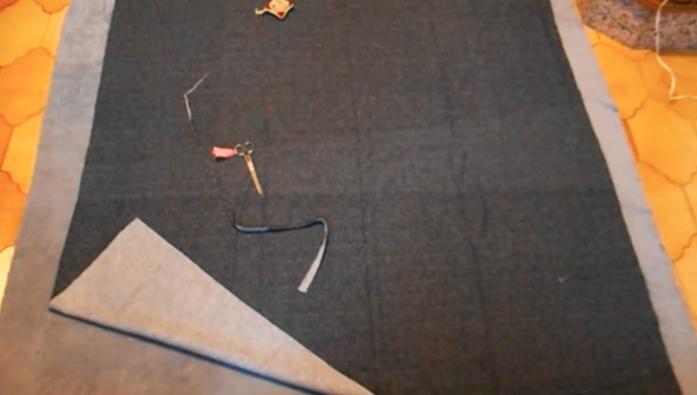 unión de telas para pie de cama